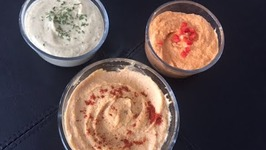3 Easy Hummus / 3 Hummus Flavours / Simple Chickpea Dip / Healthy Snack Ideas