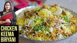 Chicken Keema Biryani Recipe  How To Make Keema Biryani  Chicken Biryani By Smita Deo
