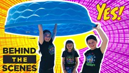 Buying a GIANT POOL For Our OOBLECK SLIME CHALLENGE!