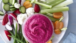 Red Beet White Bean Hummus - Healthy Snacks