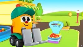 Lifty's shop 2- New Cartoon and Learning Videos Learn Fruits with Lifty the Loader