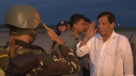 Duterte Meets Troops as Government Announces End to Military Operations in Marawi