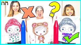GIANT 3 MARKER CHALLENGE - GREEDY GRANNY vs Princess ToysReview