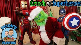 GRINCH DELIVERS GIFTS TO SUPERHEROES  DEION'S PLAYTIME
