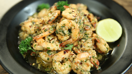 Easiest Butter Garlic Prawns - Fish Recipe - How To Make Garlic Butter Prawns - Varun Inamdar