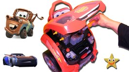 Disney Cars 3 Lighting Mcqueen Whats Under The Hood Game Toy Car