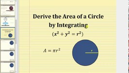Derive The Area Of A Circle Using Integration (x2 y2r2)