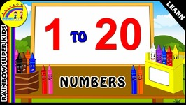 How To Write Numbers 1 to 20 - Learn Numbers And Colors For Kids - Learn To Numbers For Kindergarten