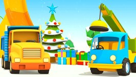 Helper Cars and Trucks for Kids- A Christmas Cartoon