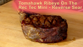 Tomahawk Ribeye On The Rec Tec Mini - Reverse Sear