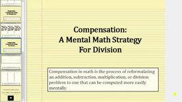 Mental Math - Division Using Compensation