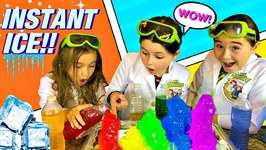 Rainbow Instant Ice Experiment  Easy Science Experiments for Kids