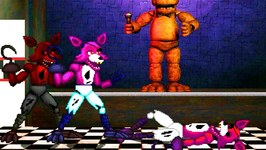 Five Nights at Freddy's- Foxy vs. Foxy & Foxy