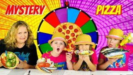 MYSTERY WHEEL OF PIZZA CHALLENGE - GRANDMA EDITION!