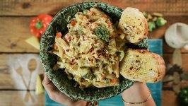 White Sauce Pasta Recipe - How To Make White Sauce Pasta - Simply Awesome