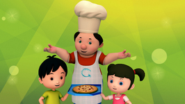 Making Pizza with Happy Family - Cooking Time for Kids