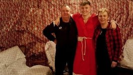 Son Surprises Parents By Wrapping House in Christmas Paper