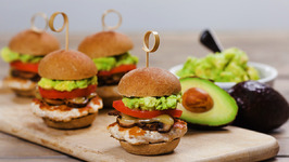 Turkey Sliders with Avocado, Mushrooms, And Swiss Cheese