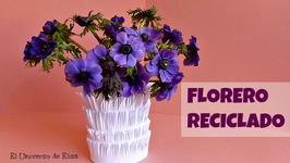 Manualidades de Reciclaje, Florero, Decoración, Manualidades con papel