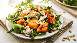 Butternut Squash, Crispy Kale And Goat Cheese Salad
