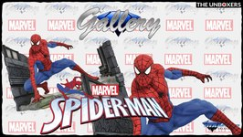 Marvel Comic Gallery Spider-Man Webbing PVC Diorama by Diamond Select Toys