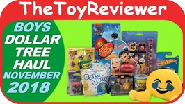 November 2018 Boys Dollar Tree Haul 1 Mickey Putty Emoji Unboxing Toy Review