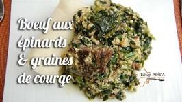 Boeuf Aux Épinards Et Graines De Courge