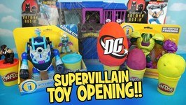 Imaginext Batman Toys And Huge Play-Doh Surprise Eggs With Dc Supervillains Batman Toys