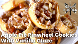 Apple Pie Pinwheel Cookies With Vanilla Glaze
