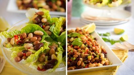 Spicy Sweet Three Bean Salad -Full Of Protein