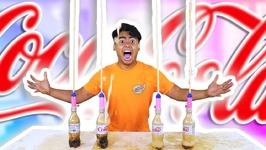 DIET COKE MENTOS GEYSER VOLCANO EXPERIMENT