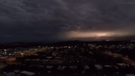 Drone Footage Shows Lightning Over Queensland