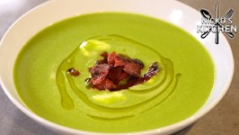 Pea And Bacon 'Hulk' Soup / Budget Recipe