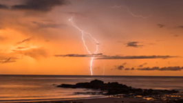 Lightning Storm Brews Off Coast of Broome Ahead of Cyclone Joyce