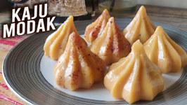 Kaju Modak Recipe / Ganesh Chaturthi Special - Kesar Kaju Modak / Easy Modak Recipe By Varun Inamdar