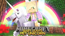 BABY LEAH'S PET UNICORN! - Minecraft - Little Donny Adventures