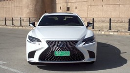 LEXUS LS 500h in White Exterior Design