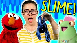 Ocean Slime DIY  Marvie And Elmo Learn How To Make Slime - Arts And Crafts With Crafty Carol Part 1