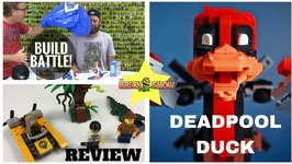 Lego Build Battle With Nerf - Water Bombs - Deadpool Duck Moc - Lego Jungle Starter Set Review