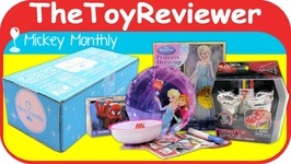 Disney Subscription Box August 2017 Mickey Monthly Original Magic Unboxing Toy Review
