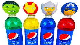 Superhero Bottles Wet Surprise Eggs Learn Colors Kids