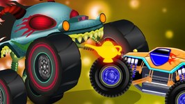 The Magic Lamp - Haunted House Monster Truck Videos - Cartoons by Kids Channel