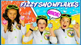Fizzy Snowflake Science Experiment  Kids Fun Activities