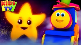 Twinkle Twinkle Little Star - Bob The Train Cartoons - Nursery Rhymes For Children