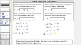 Write Equivalent Numerical Expressions