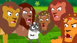 Five Big Lions Jumping On The Bed - Nursery Rhymes For Children