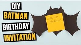 DIY Batman Birthday Invitation