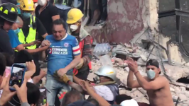 Person Rescued After Mexico City Factory Collapse During Earthquake
