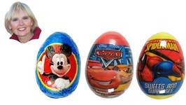 Disney Mickey Mouse Surprise Egg, Pixar Cars, Marvel Spider-Man Surprise Easter Eggs