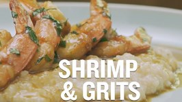 Tasty New Orleans Barbecue Shrimp And Grits